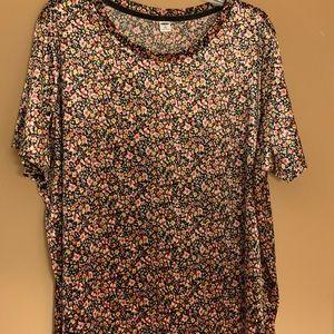 Flower velvet shirt 2X